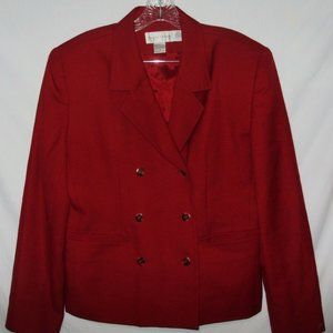 Casual Corner Womens Sz14 Blazer Double Breasted